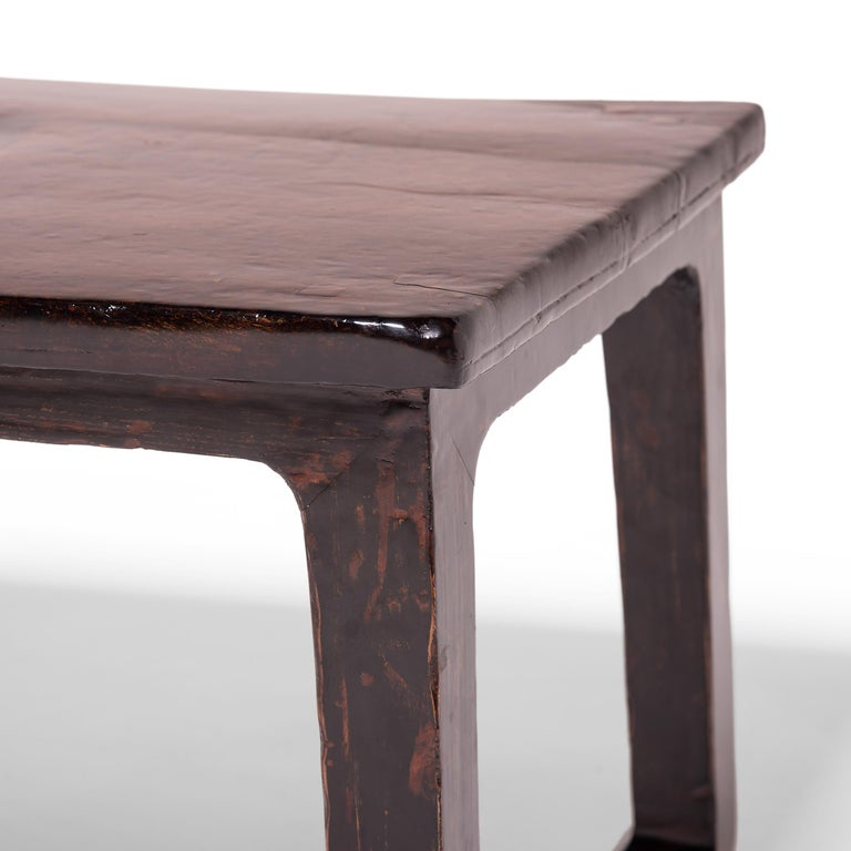 Burl 19th Century Chinese Knotty Low Table For Sale