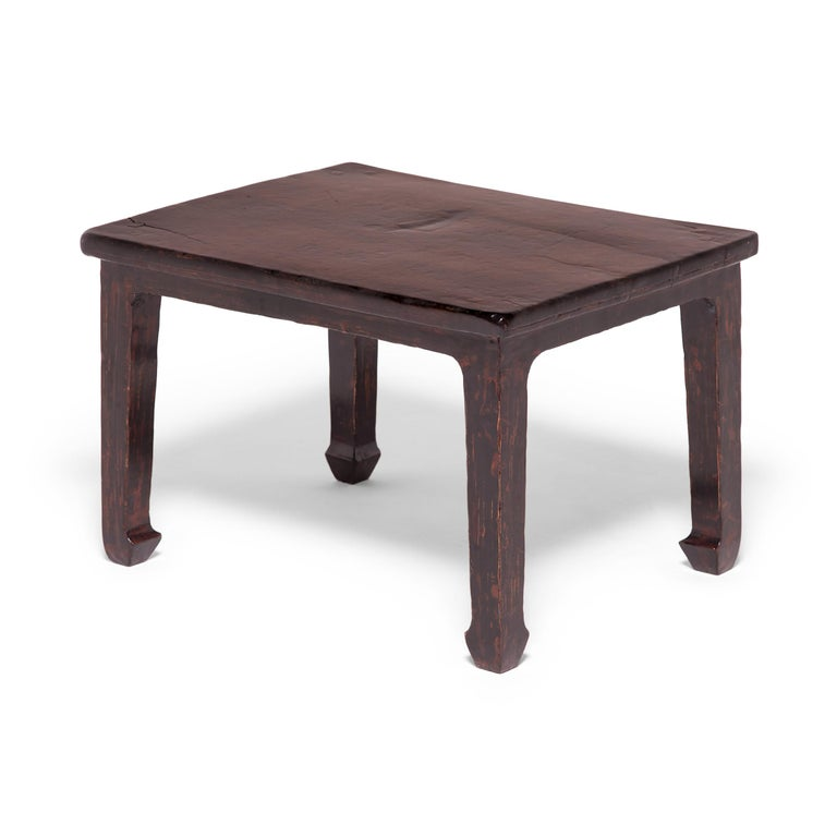 Qing 19th Century Chinese Knotty Low Table For Sale