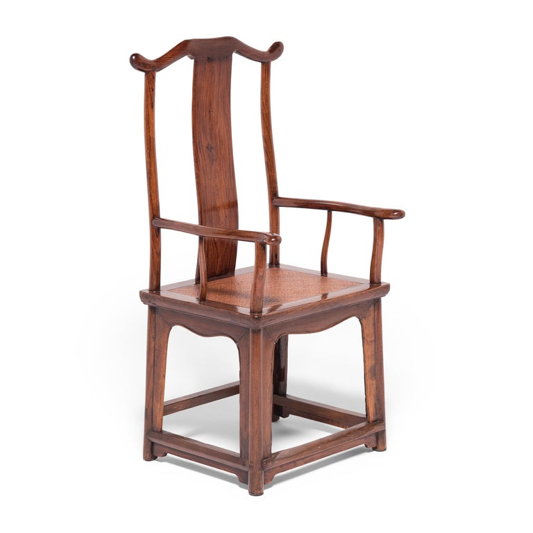 Elm Pair of 19th Century Chinese Official's Chairs For Sale