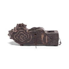 19th Century Chinese Abstract Cloud Carpenter Line