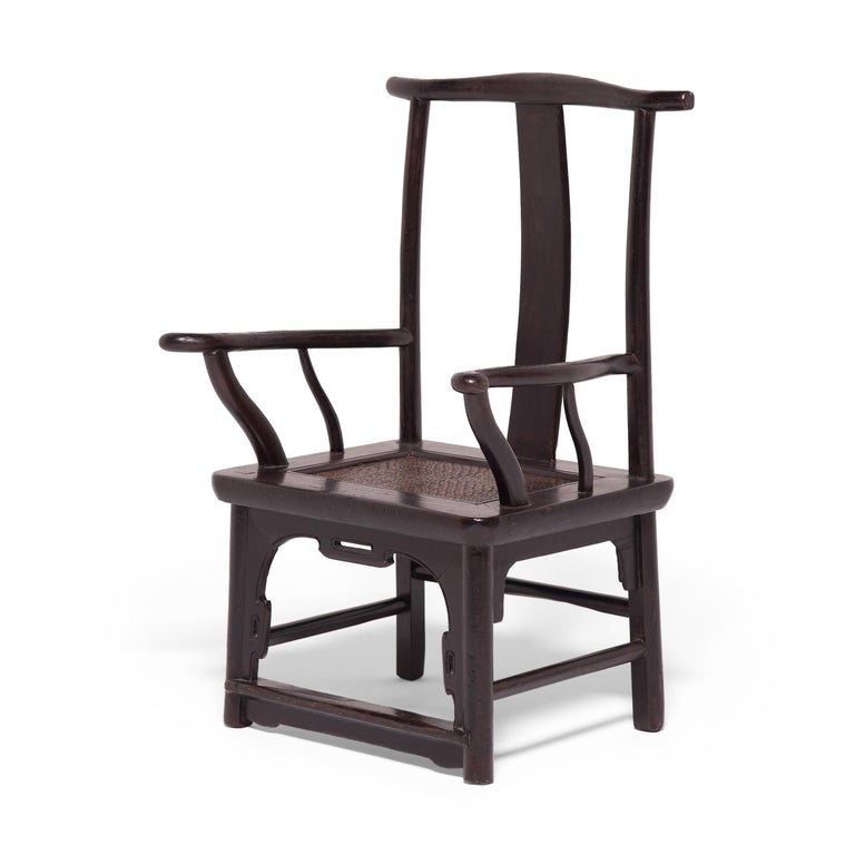 Pair of 19th Century Chinese Tall Back Porch Chairs For Sale 4