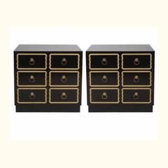Pair of Chests / Nightstands in the manner of Dorothy Draper
