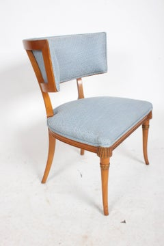 Pair of Hollywood Regency Klismos Chairs