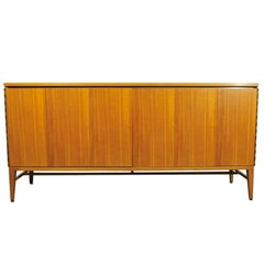 Paul McCobb Bleached Mahogany Accordion Doors Sideboard, Refinished to Order