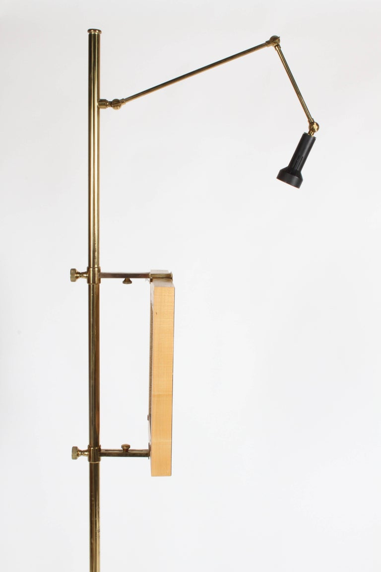 Arredoluce Brass Art Easel with Lamp by Angelo Lelli For Sale 2