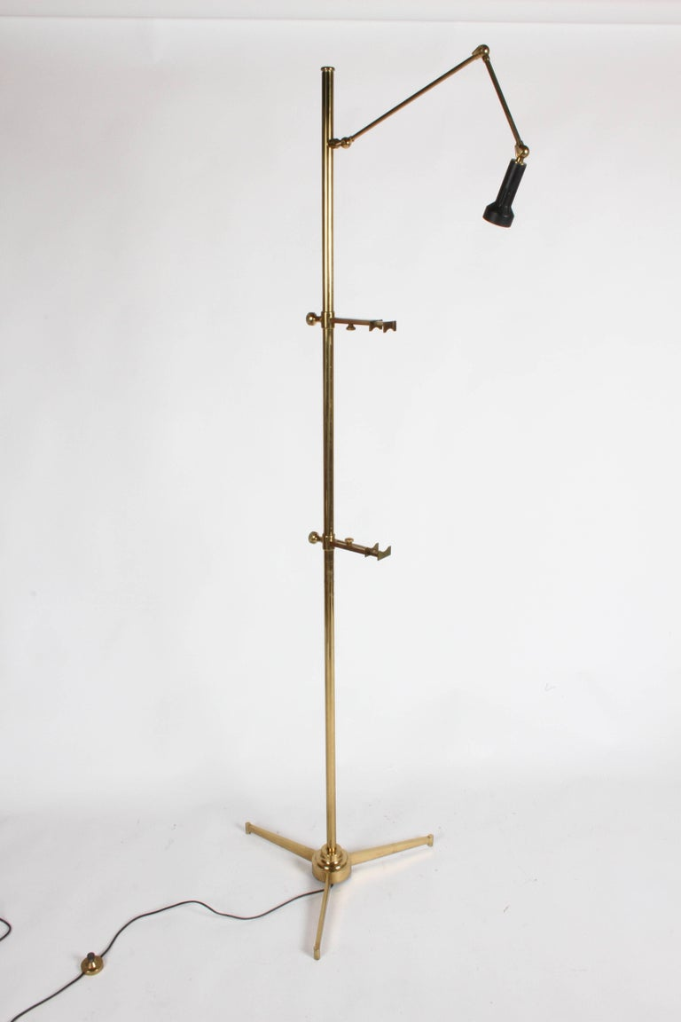 Arredoluce Brass Art Easel with Lamp by Angelo Lelli For Sale 3