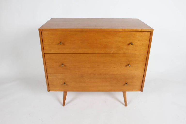 Mid-Century Modern Pair of Paul McCobb Planner Group Three-Drawer Chest For Sale