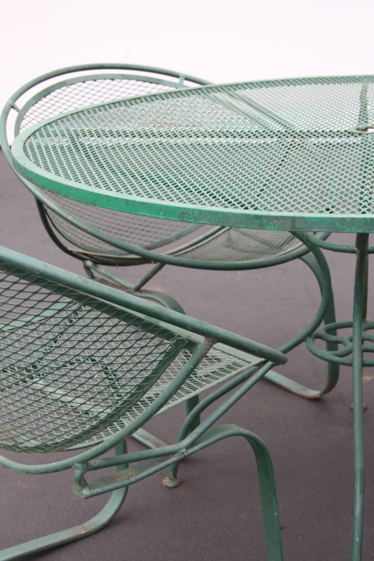 Mid-Century Modern Salterini Patio Set Table with Four Radar Chairs For Sale 4