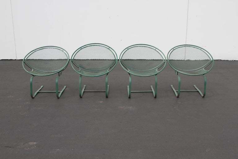 Mid-Century Modern Salterini Patio Set Table with Four Radar Chairs For Sale 5