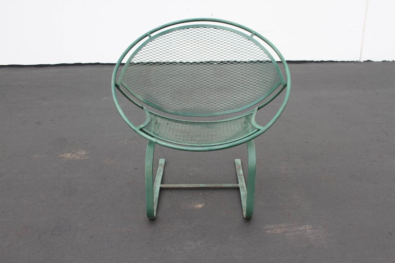 Mid-Century Modern Salterini Patio Set Table with Four Radar Chairs For Sale 13