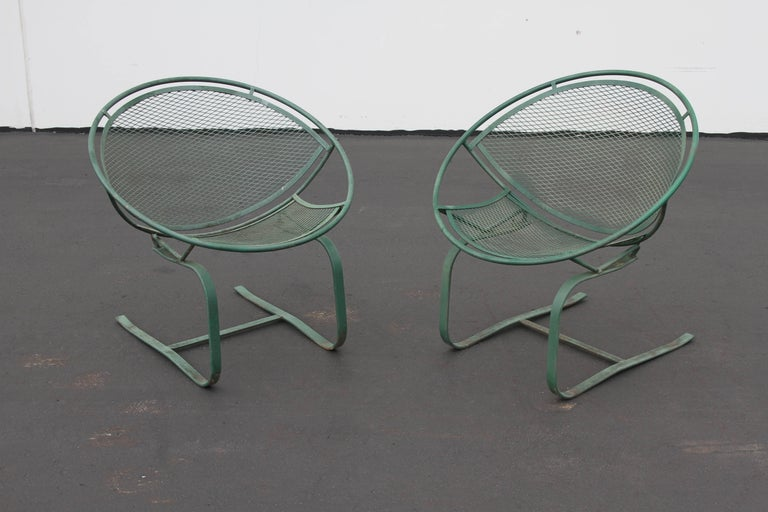 Mid-Century Modern Salterini Patio Set Table with Four Radar Chairs For Sale 6