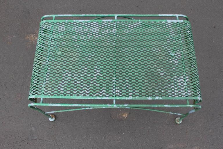 MCM Salterini Wrought Iron Patio or Garden Bench For Sale 2