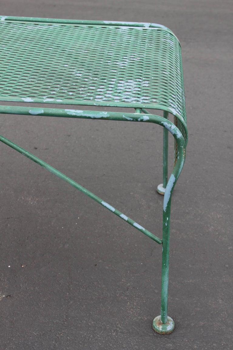 MCM Salterini Wrought Iron Patio or Garden Bench For Sale 1
