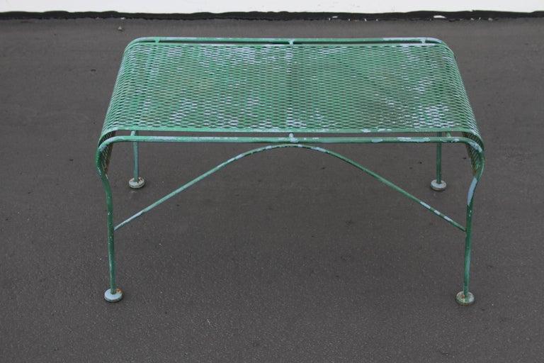 Mid-Century Modern MCM Salterini Wrought Iron Patio or Garden Bench For Sale