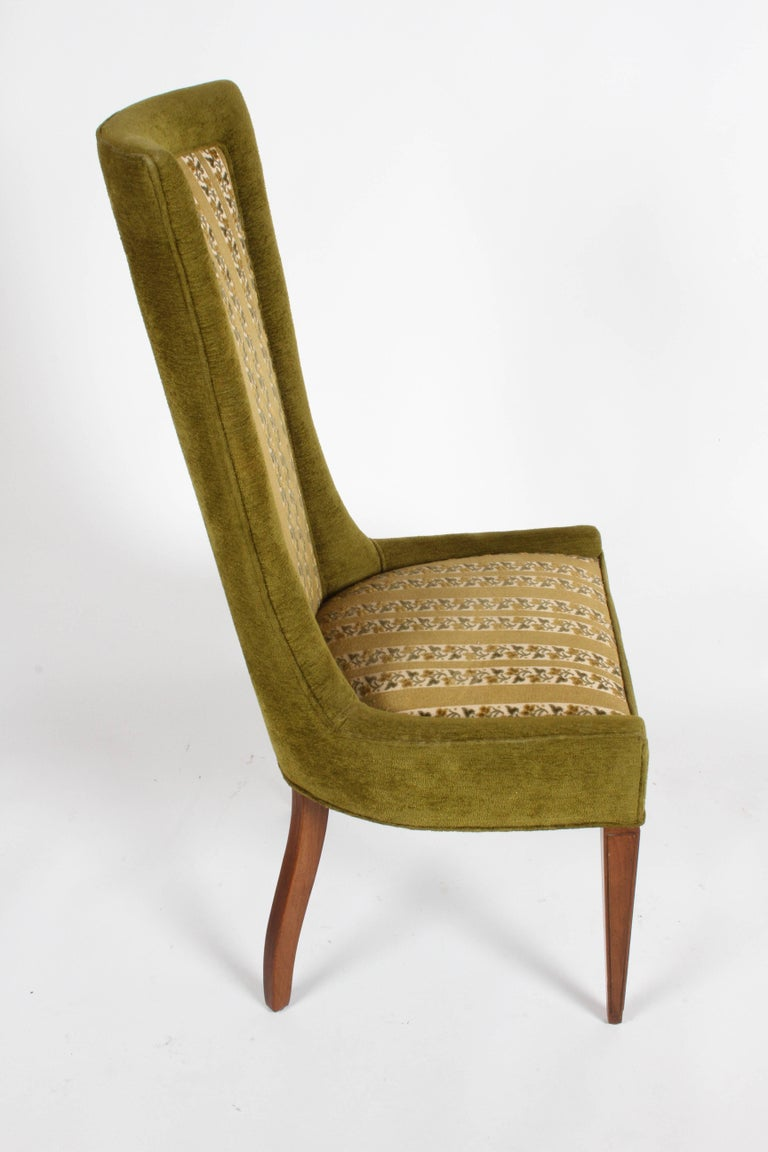 Mid-20th Century Pair of High Back Hollywood Regency MCM Dining Chairs For Sale