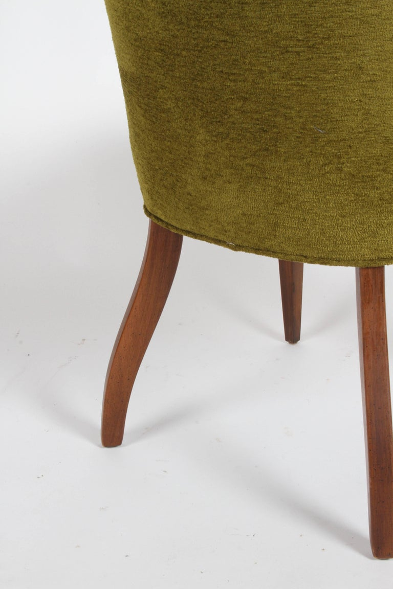 Pair of High Back Hollywood Regency MCM Dining Chairs For Sale 4