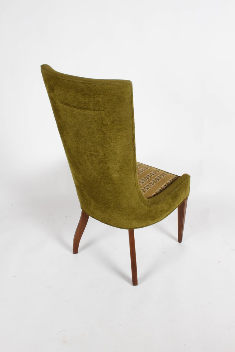 Pair of High Back Hollywood Regency MCM Dining Chairs For Sale 3