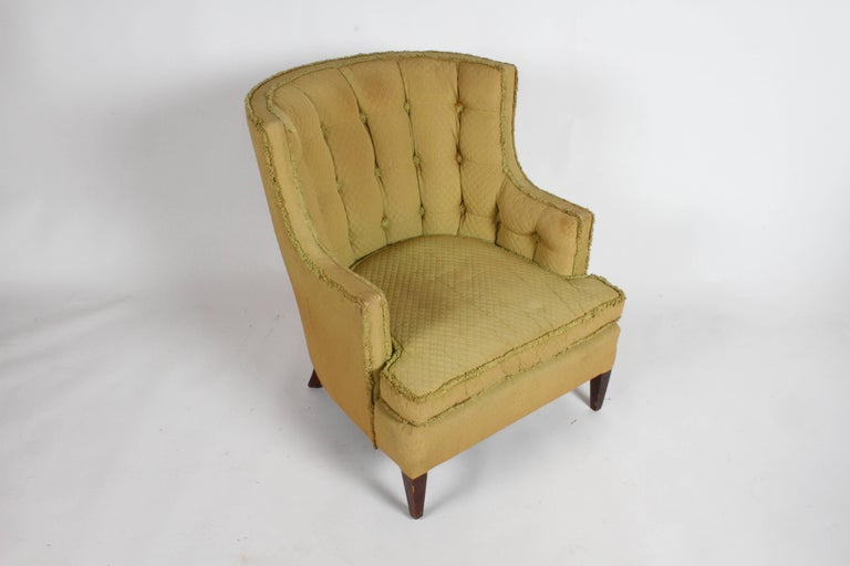 American Pair of 1940s Tomlinson Barrel Back Lounge Chairs  For Sale
