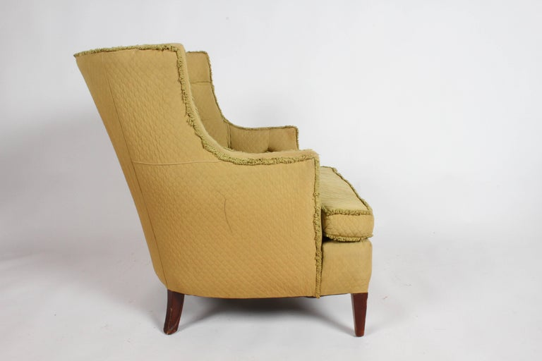 Upholstery Pair of 1940s Tomlinson Barrel Back Lounge Chairs  For Sale