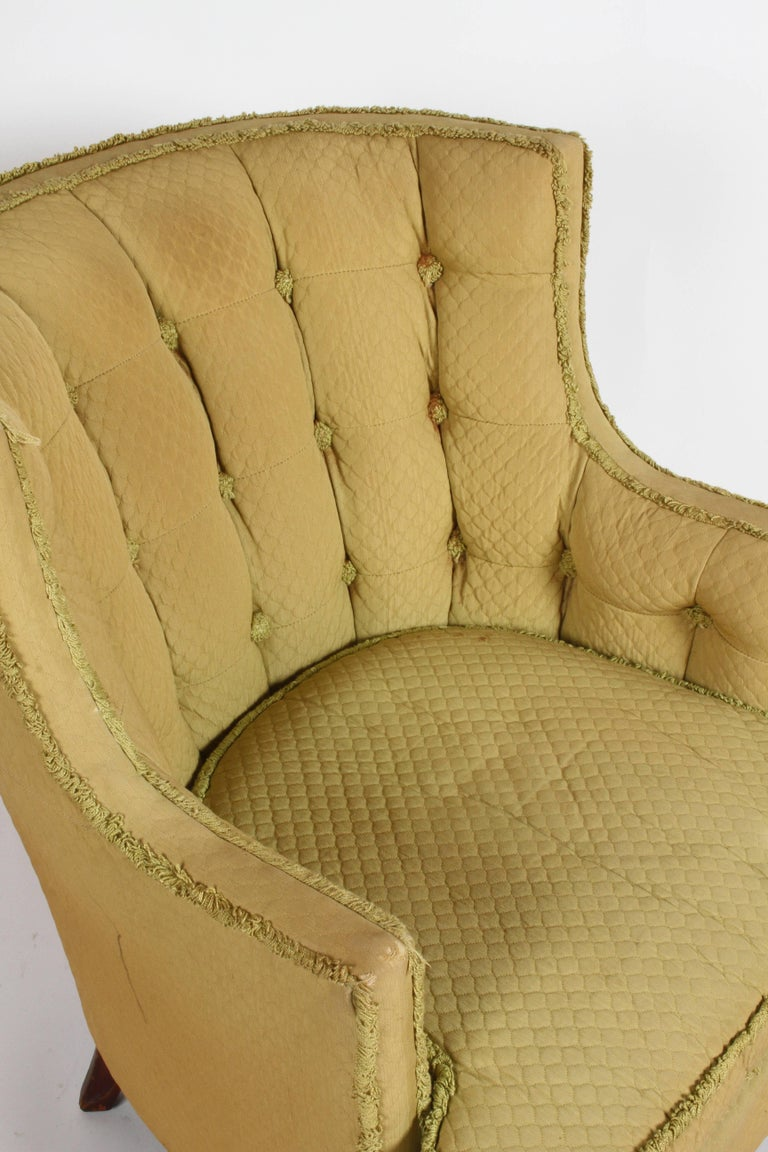 Pair of 1940s Tomlinson Barrel Back Lounge Chairs  In Good Condition For Sale In St. Louis, MO