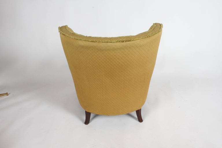 Pair of 1940s Tomlinson Barrel Back Lounge Chairs  For Sale 3