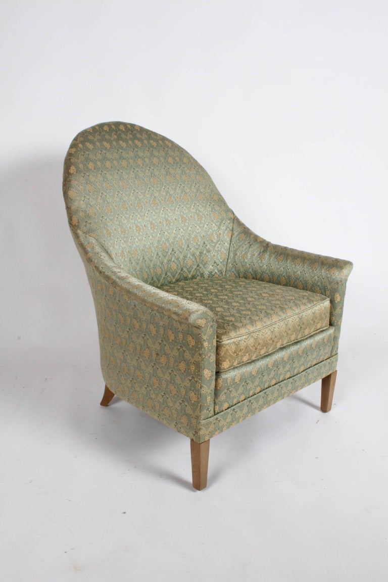 Mid-20th Century Elegant Spoon Back Romweber Lounge Chair  For Sale