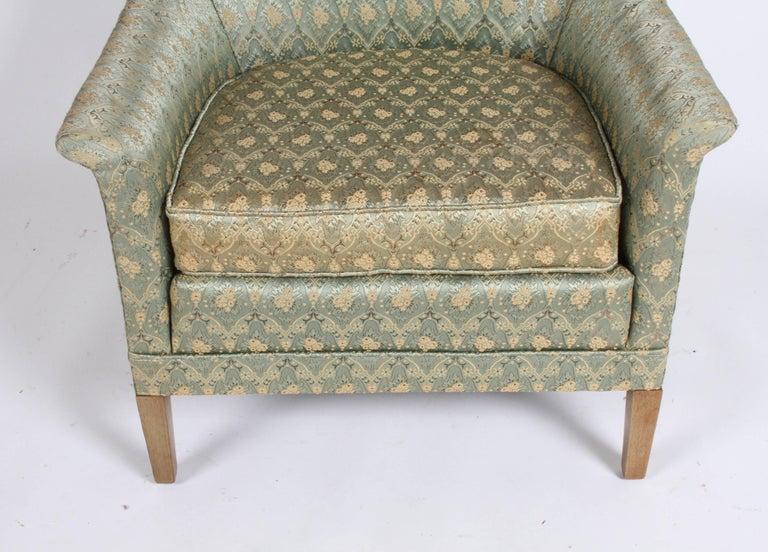 Hollywood Regency Elegant Spoon Back Romweber Lounge Chair  For Sale