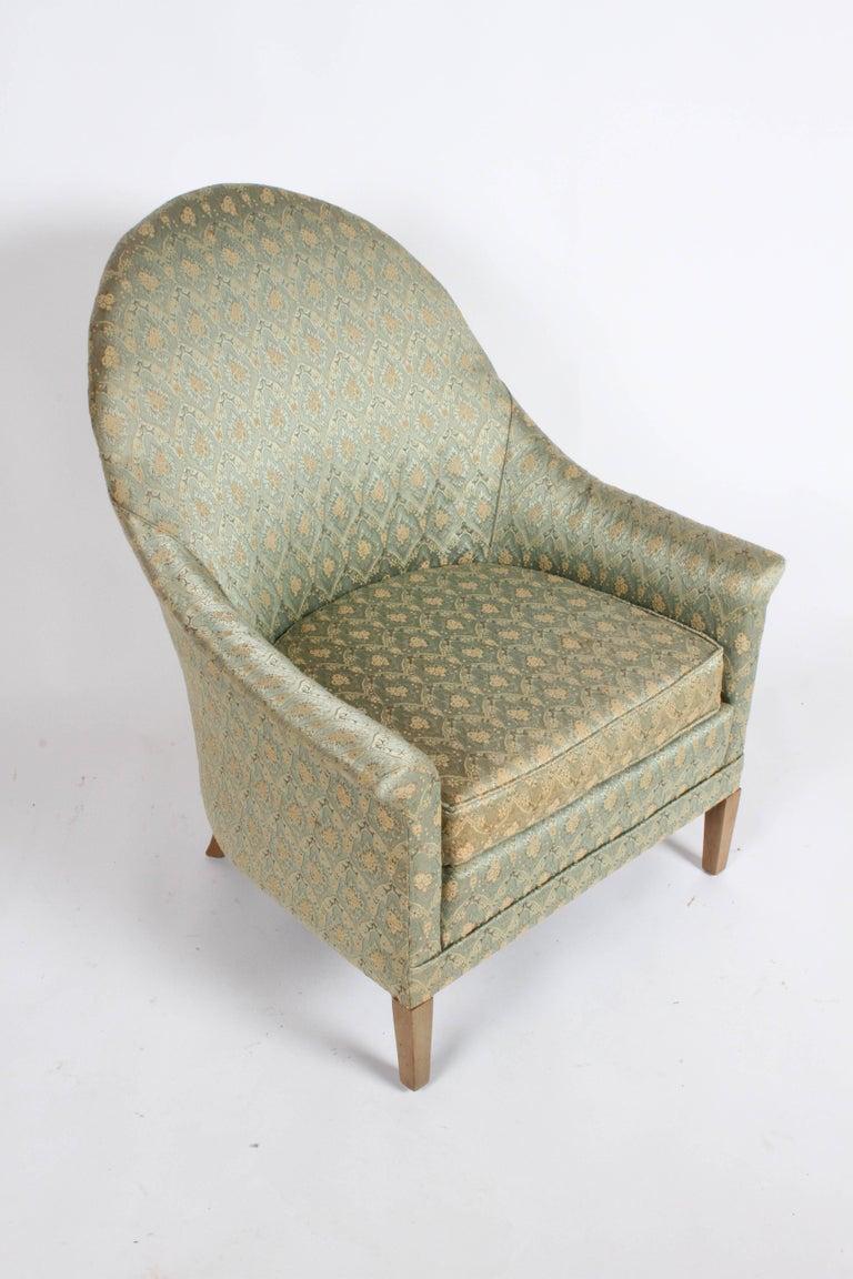 Upholstery Elegant Spoon Back Romweber Lounge Chair  For Sale