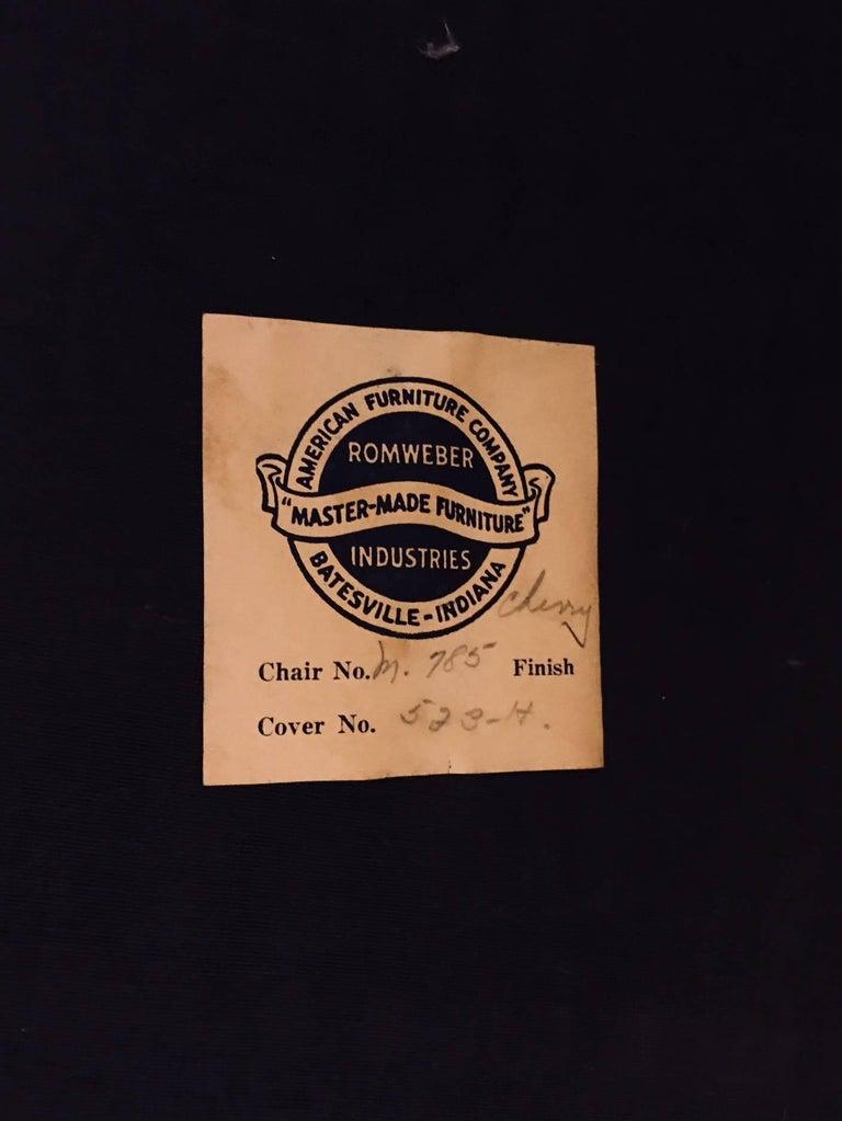 Elegant Spoon Back Romweber Lounge Chair  For Sale 8