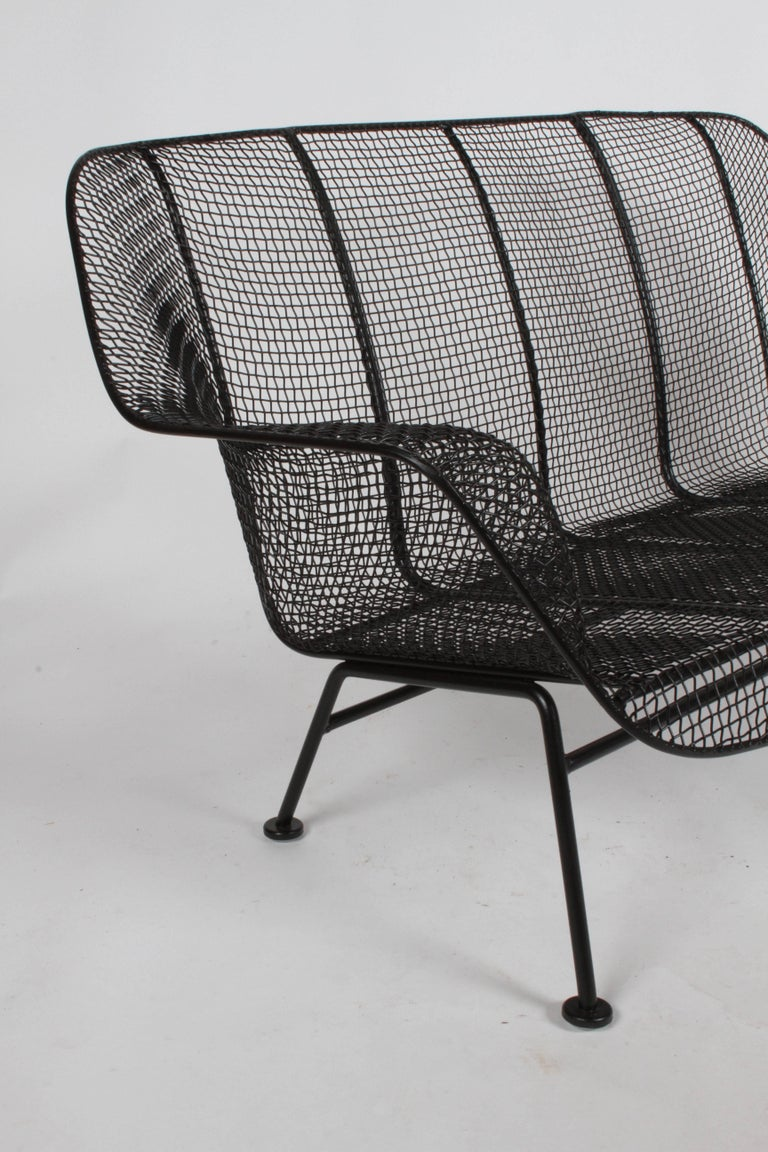 Mid-20th Century Russell Woodard Sculptura Wrought Iron Settee, Restored For Sale