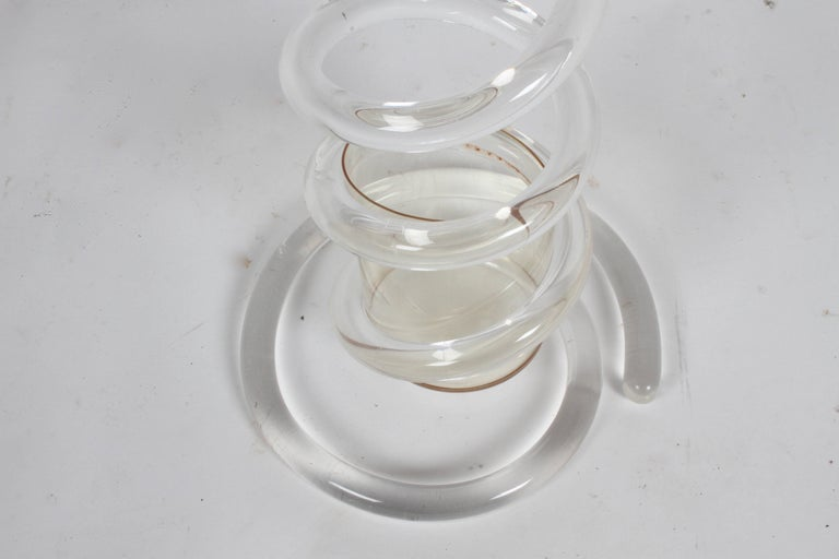 American Dorothy Thorpe Style Lucite Coil Cane or Umbrella Stand For Sale