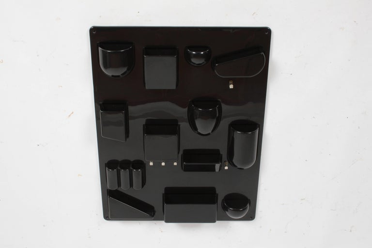 Dorothee - Maurer - Becker, Uten. Silo II Wall-All Wall Organizer, color is black. Signed Dorothee - Maurer - Becker product of M. Munich West-Germany, circa 1970s. ABS plastic, overall very nice original condition. Can ship UPS. Mod OP- POP design.