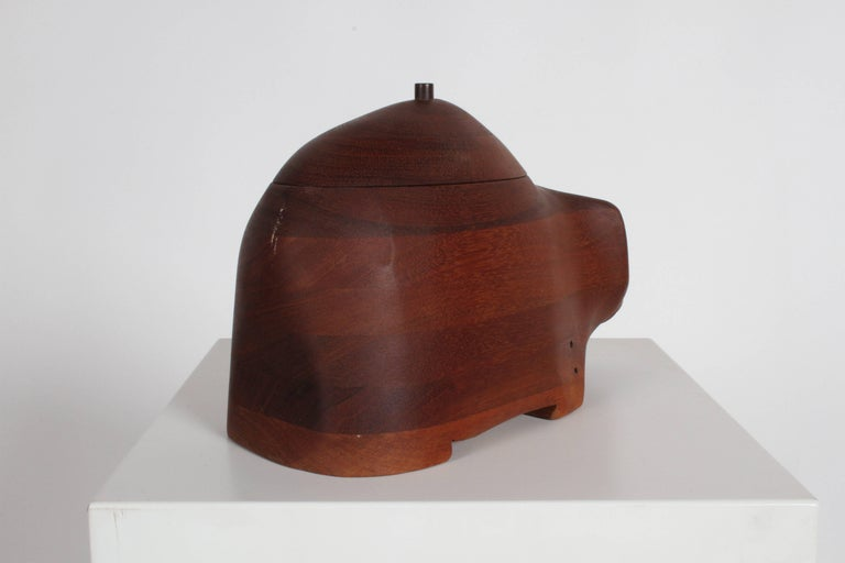 Late 20th Century Deborah D. Bump Rhino Jewelry Trinket Box For Sale