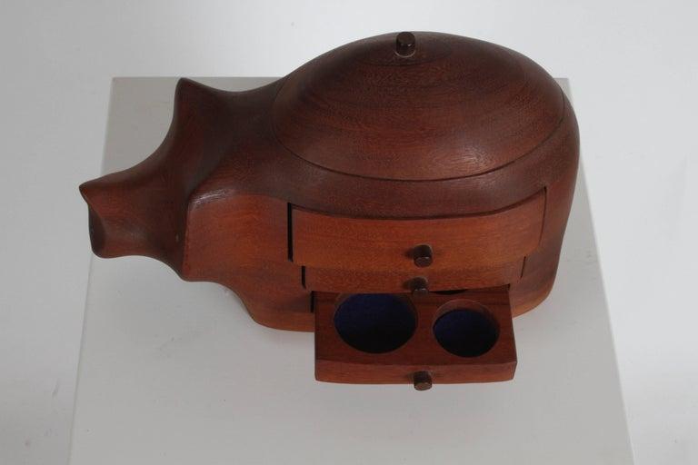 Deborah D. Bump Rhino Jewelry Trinket Box For Sale 5