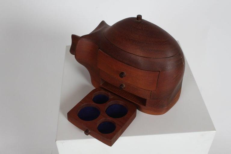 Deborah D. Bump Rhino Jewelry Trinket Box For Sale 1