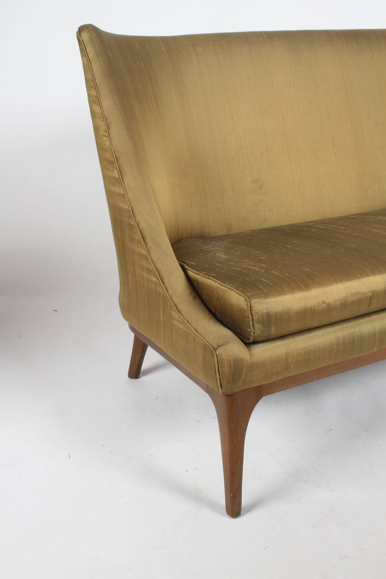 Pair of Lawrence Peabody Midcentury Loveseats, Settees or Sofas In Good Condition For Sale In St. Louis, MO