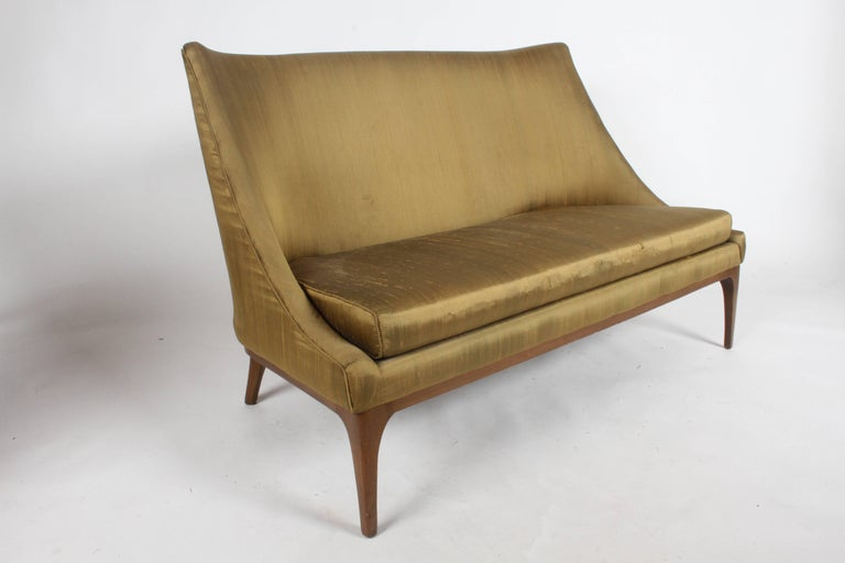 Mid-Century Modern Pair of Lawrence Peabody Midcentury Loveseats, Settees or Sofas For Sale