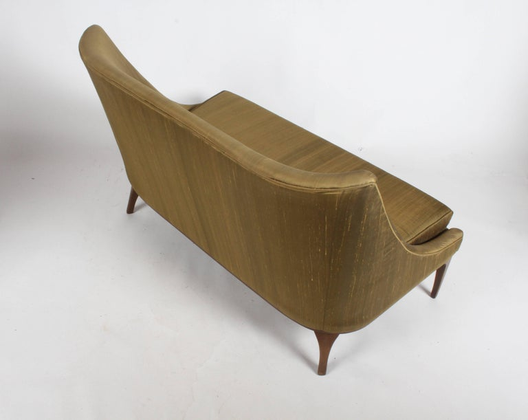 Pair of Lawrence Peabody Midcentury Loveseats, Settees or Sofas For Sale 2