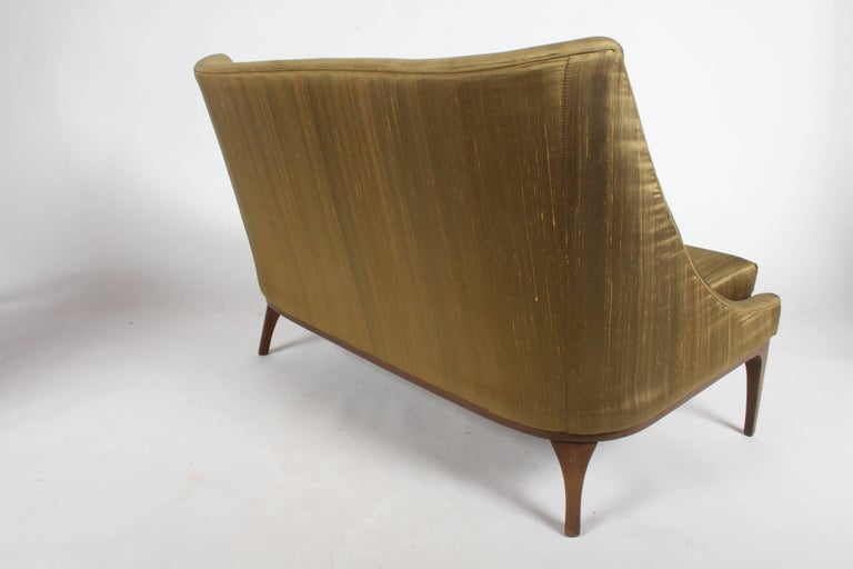 Pair of Lawrence Peabody Midcentury Loveseats, Settees or Sofas For Sale 7