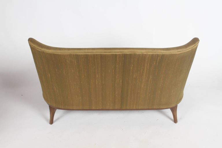 Pair of Lawrence Peabody Midcentury Loveseats, Settees or Sofas For Sale 10