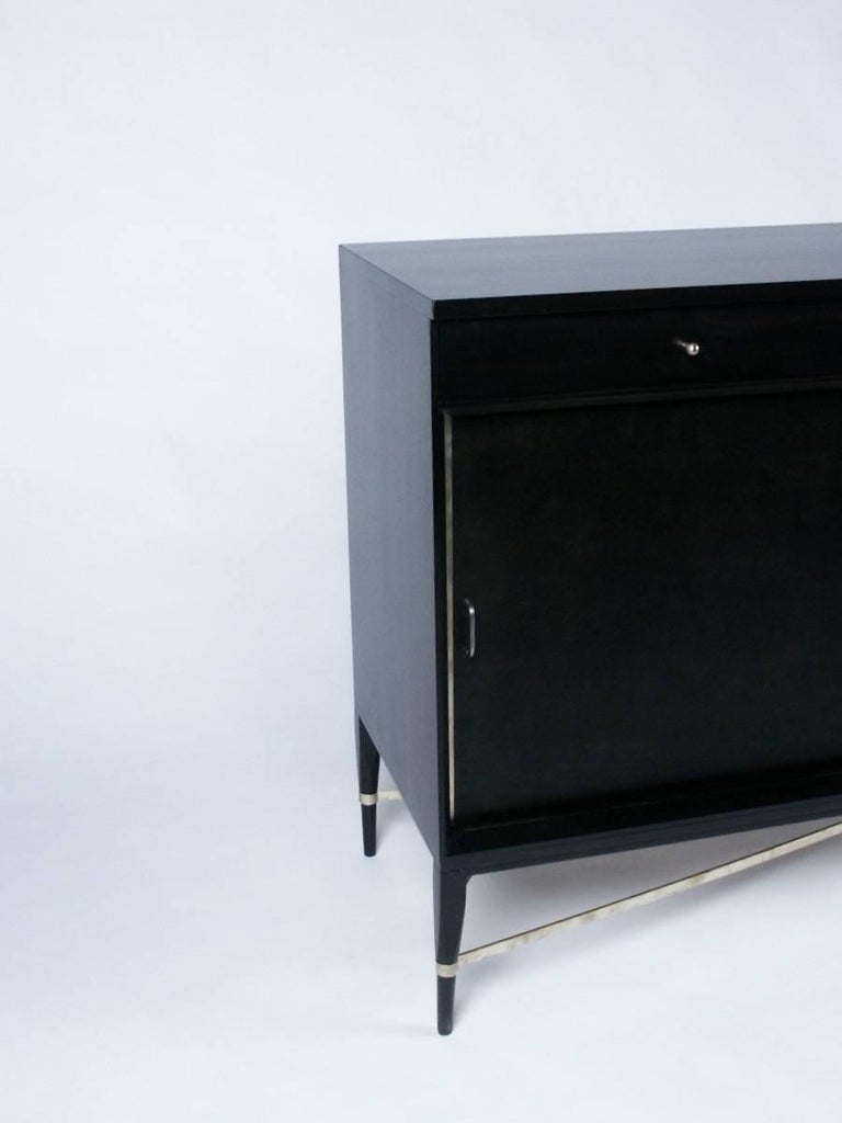 Mid-Century Modern Paul McCobb for Calvin Sideboard with Brass X-Stretcher For Sale