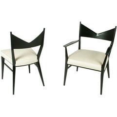 Set of Six Paul McCobb for Calvin Dining Chairs with V Backs