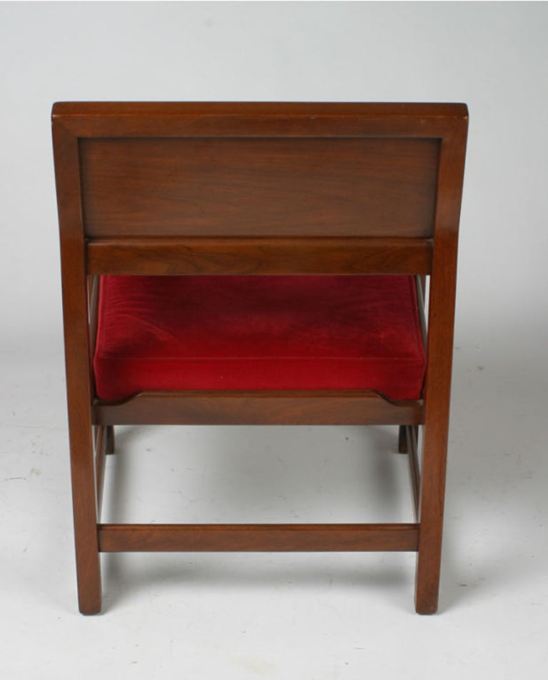 Mid-Century Modern Set of Eight Edward Wormley for Dunbar Dining Armchairs For Sale