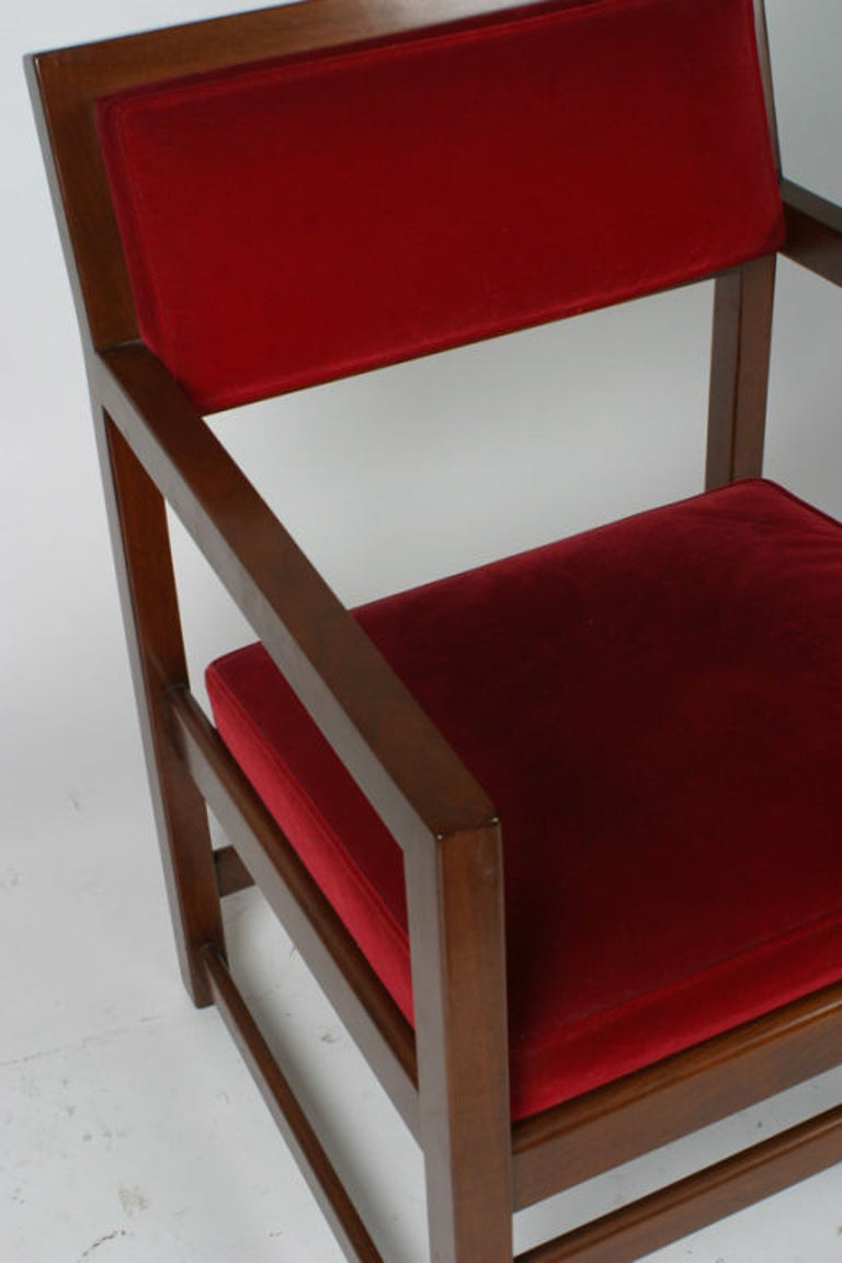 Mid-20th Century Set of Eight Edward Wormley for Dunbar Dining Armchairs For Sale