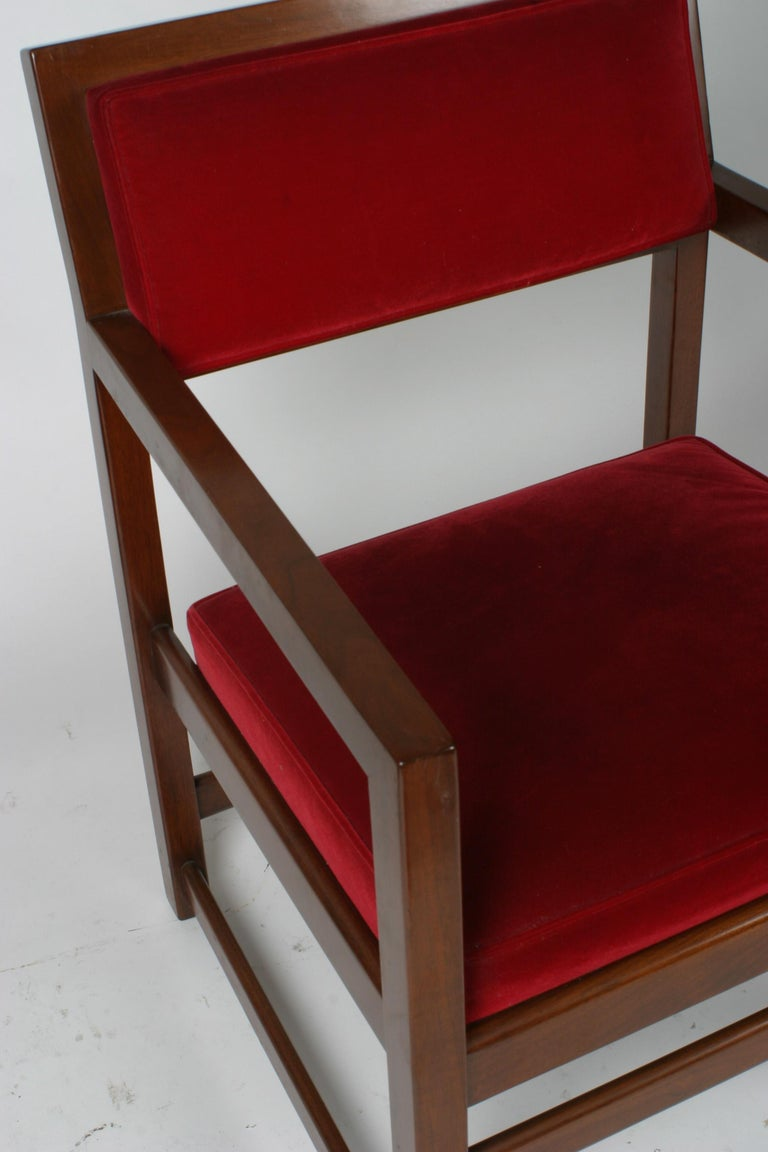 Set of Eight Edward Wormley for Dunbar Dining Armchairs For Sale 2