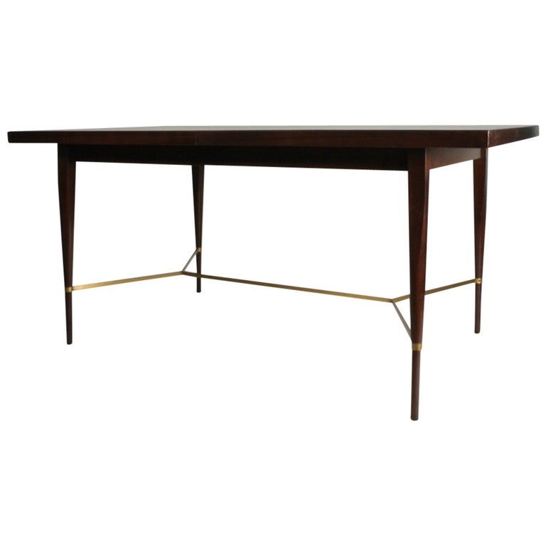 Paul McCobb for Calvin Dining Table with Brass X Cross Support  Pick your Finish For Sale