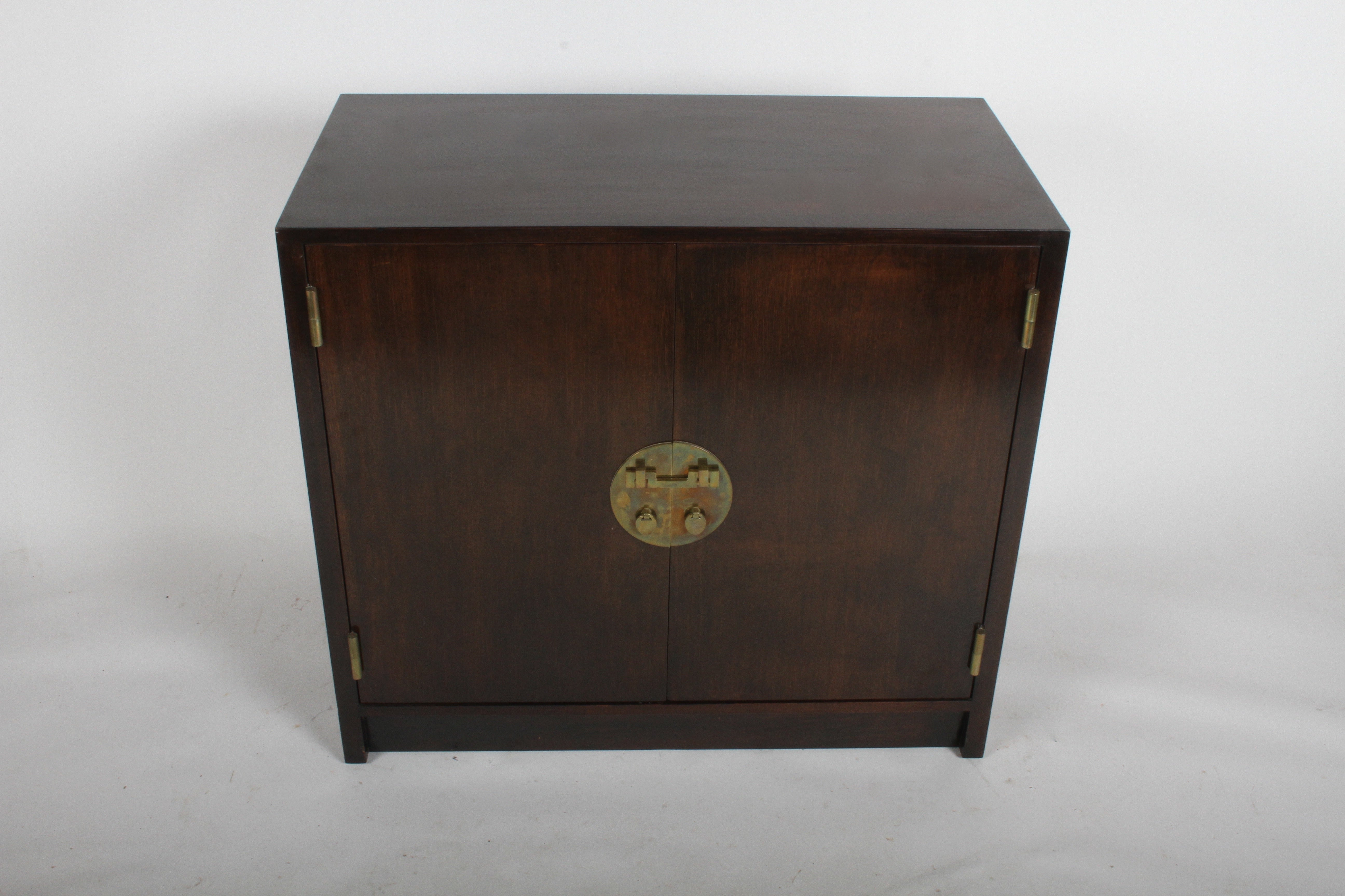 Edward J Wormley For Dunbar Cabinet With Asian Hardware At 1stdibs