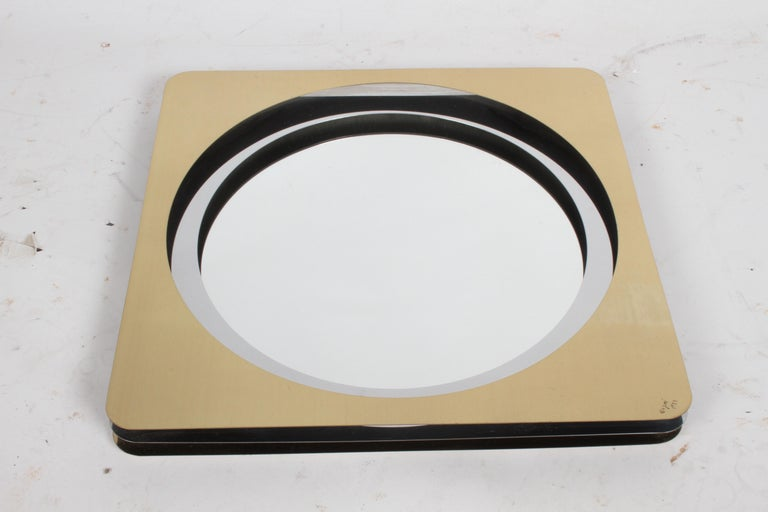 Late 20th Century Curtis Jere Mirror in Brass and Chrome Signed C. Jere '77 For Sale