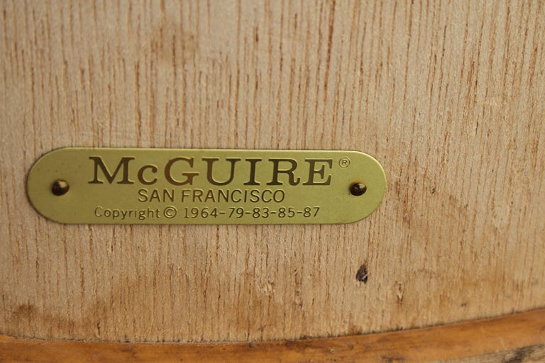Vintage McGuire Rattan Sheaf of Wheat Form Dining Table For Sale 6