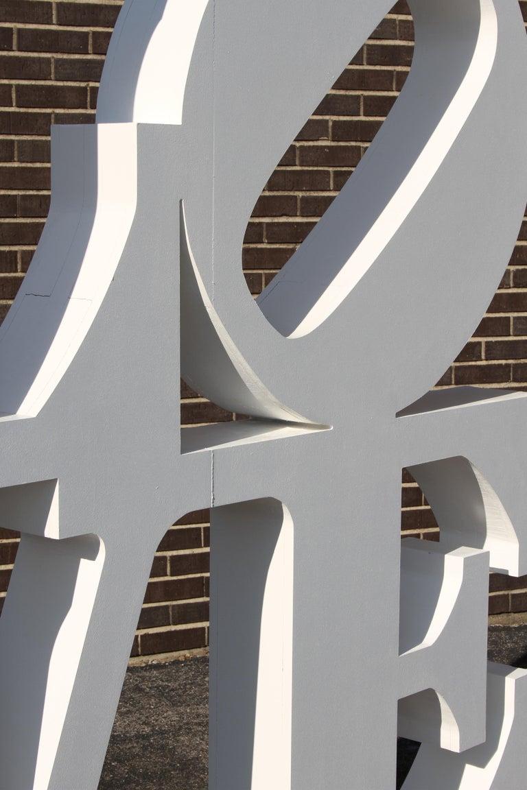 Mid-Century Modern After Robert Indiana Large LOVE Sculpture Pop Art - 72